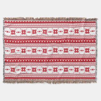 El suéter rojo del navidad inspiró el modelo manta