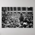 El Suffragette golpea la calle: los años 10 tempra Posters