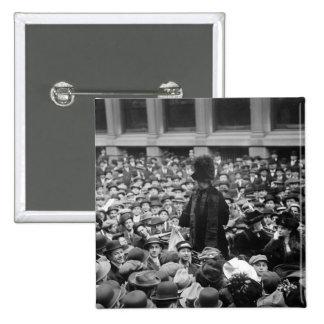 El Suffragette golpea la calle: los años 10 tempra Pin Cuadrada 5 Cm