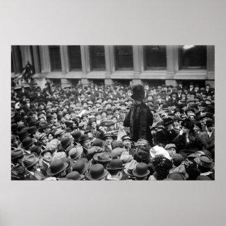 El Suffragette golpea la calle: los años 10 tempra Póster
