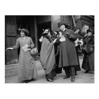 El sufragio Handouts, 1913 de las mujeres Postal