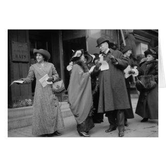 El sufragio Handouts 1913 de las mujeres Felicitacion