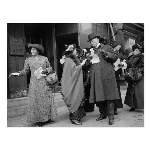 El sufragio Handouts, 1913 de las mujeres Tarjetas Postales