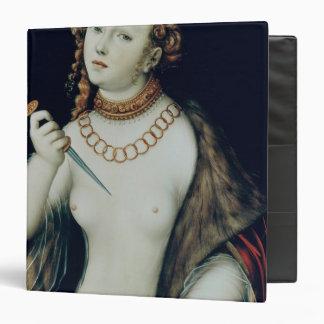 "El suicidio de Lucretia, 1538 Carpeta 1 1/2"""
