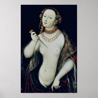 El suicidio de Lucretia, 1538 Póster