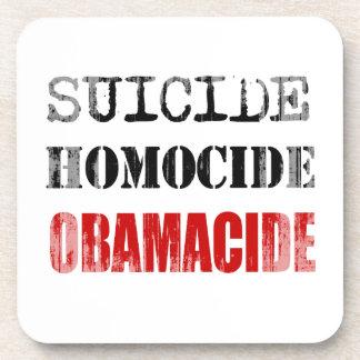 El SUICIDIO, HOMOCIDE, OBAMACIDE - copie Faded.png Posavasos De Bebidas
