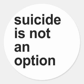 el suicidio no es una opción etiqueta