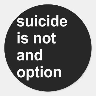 el suicidio no es una opción pegatina