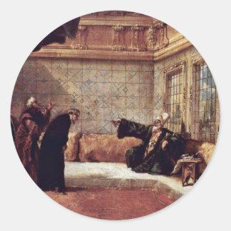 El sultán recibe a una delegación de dignatarios pegatinas redondas