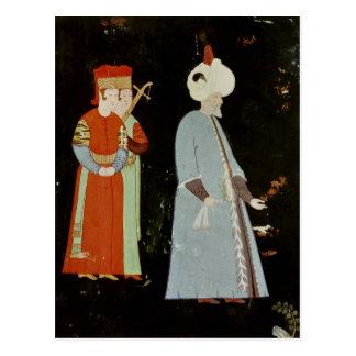 El sultán Suleyman el magnífico Postal