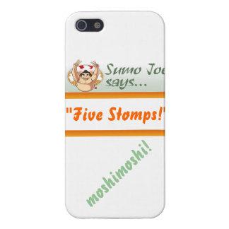 """El sumo Joe dice que pisa fuerte """"cinco"""" caso del  iPhone 5 Carcasa"""