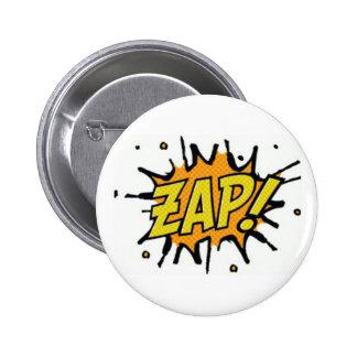 El super héroe de los cómic Zap el botón Pin Redondo De 2 Pulgadas
