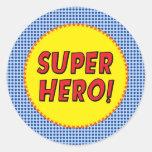 El super héroe inspiró al pegatina