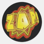 ¡El super héroe ZAP! Etiqueta Redonda