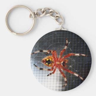 El superficie inferior de una araña llavero redondo tipo pin