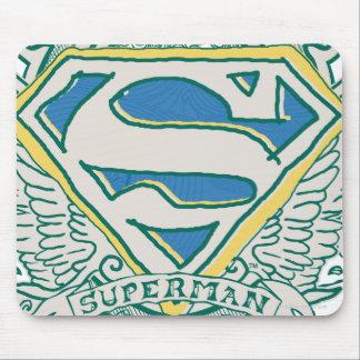 El superhombre bosquejó el escudo alfombrilla de raton