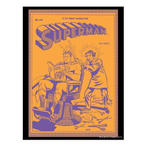 El superhombre consigue un corte de pelo tarjetas postales