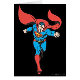 El superhombre corre adelante 2 tarjetas