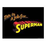 El superhombre el | esto es un trabajo para… tarjeta postal