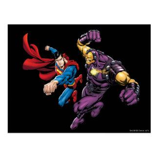 El superhombre lucha al enemigo 2 postal