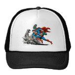 El superhombre lucha al monstruo gorras de camionero