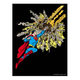El superhombre para un meteorito tarjetas postales