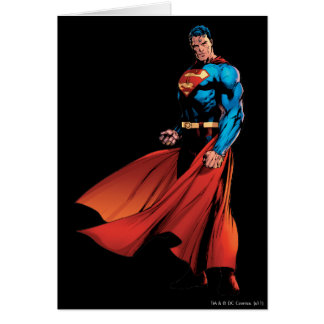 El superhombre parece delantero tarjeta de felicitación