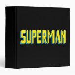 """El superhombre pone letras a amarillo/al azul carpeta 1 1/2"""""""