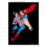El superhombre rescata a Louis Tarjeta De Felicitación
