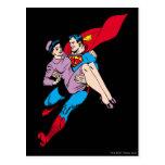 El superhombre rescata a Louis Tarjeta Postal