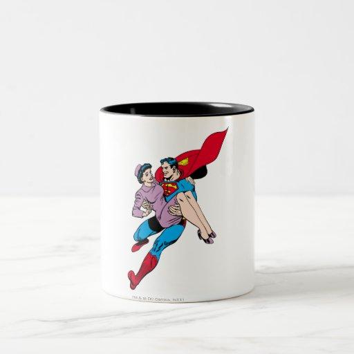 El superhombre rescata a Louis Taza De Dos Tonos
