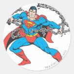 El superhombre rompe las cadenas 2 etiquetas redondas