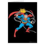 El superhombre rompe las cadenas 3 tarjeta de felicitación