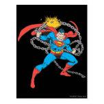 El superhombre rompe las cadenas 3 tarjetas postales