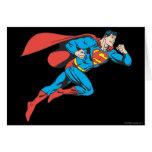 El superhombre salta a la derecha felicitación