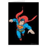 El superhombre salta adelante tarjeta de felicitación