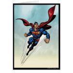 El superhombre salta hacia arriba tarjeta