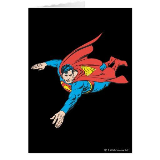 El superhombre se zambulle a la izquierda tarjeta de felicitación