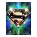 El superhombre Stylized el logotipo brillante de Tarjeta Postal