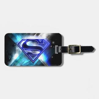 El superhombre Stylized el logotipo cristalino Etiquetas Maletas