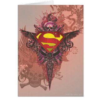 El superhombre Stylized el logotipo del diseño del Tarjeta De Felicitación