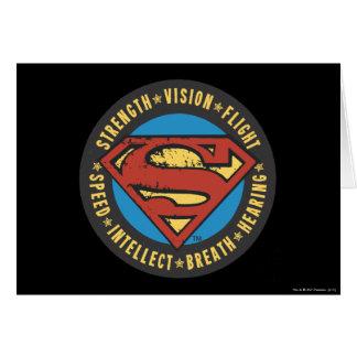 El superhombre Stylized el logotipo del vuelo de Tarjeta De Felicitación