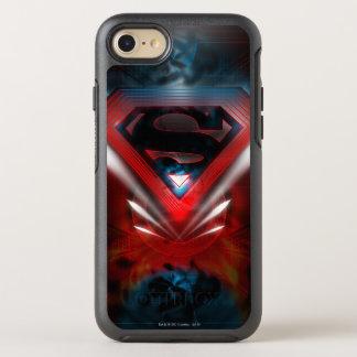 El superhombre Stylized el logotipo futurista del Funda OtterBox Symmetry Para iPhone 7