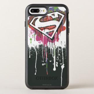 El superhombre Stylized el logotipo torcido el | Funda OtterBox Symmetry Para iPhone 7 Plus