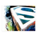 El superhombre Stylized el logotipo urbano de la Postales