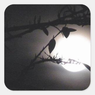 El supermoon elegante de la Luna Llena del © P Pegatina Cuadrada