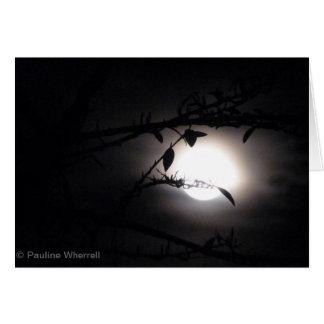 El supermoon elegante de la Luna Llena del © P Tarjeta De Felicitación