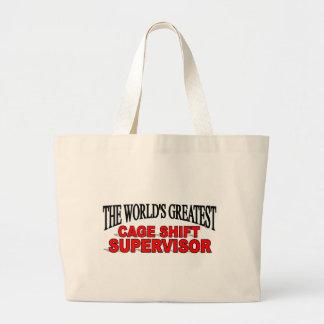 El supervisor de cambio más grande de la jaula del bolsa