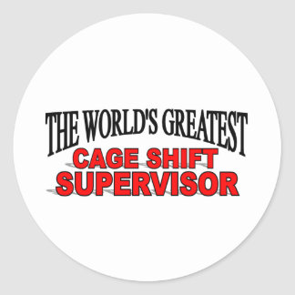 El supervisor de cambio más grande de la jaula del pegatinas redondas