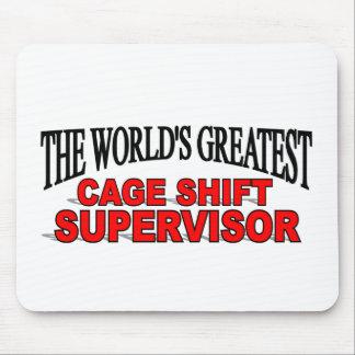 El supervisor de cambio más grande de la jaula del tapetes de raton
